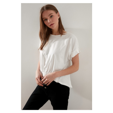 Trendyol Knitted Blouse with Ecru Slit
