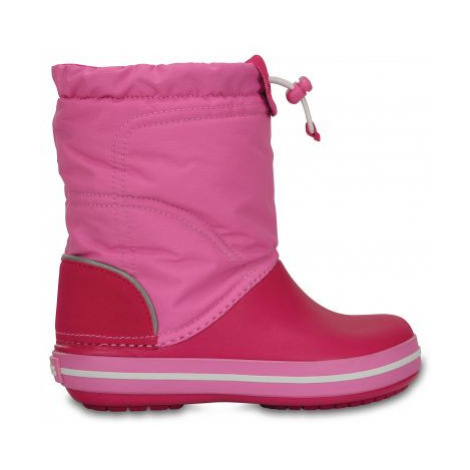 sněhule Crocs Lodgepoint Snow boot - Candy Pink/party pink relaxed fit
