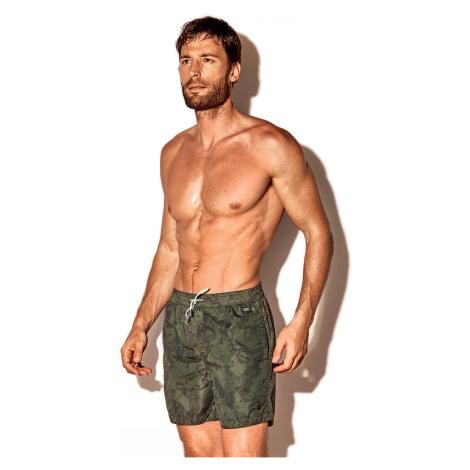 Pánské plavkové šortky Caicco olivové David 52