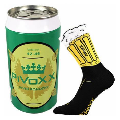 Ponožky VoXX černé (PiVoXX + plechovka) L
