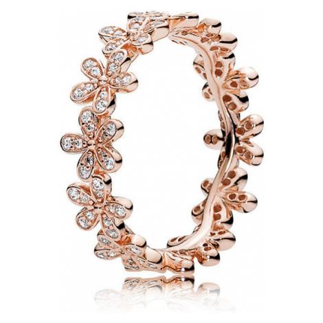 Pandora Bronzový sedmikráskový prsten 180934CZ
