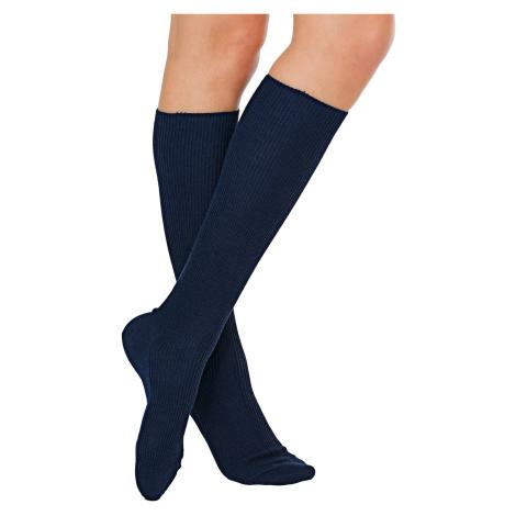 Blancheporte Podkolenky pro citlivé nohy, sada 2 párů modrá