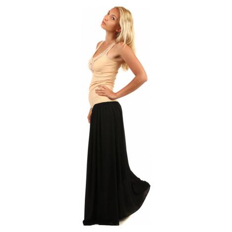 Dámská dlouhá jednobarevná maxi sukně