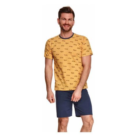 Pánské pyžamo Max žluté s auty Taro
