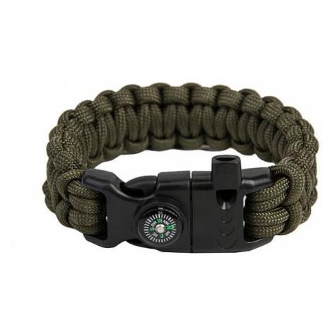 Paracord náramek Survival Snake - Army Green