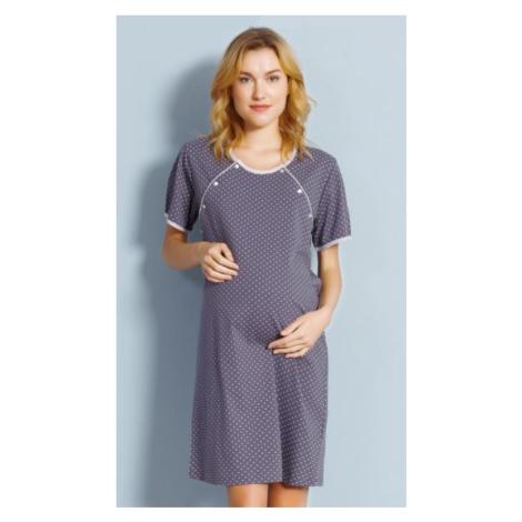 Dámská noční košile mateřská Vienetta Secret Ema | tmavě šedá