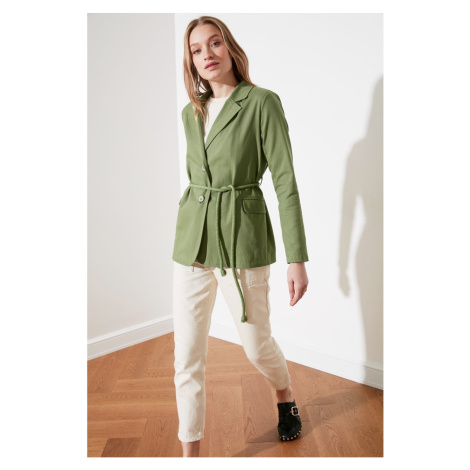 Trendyol Mint Binding Detail Jacket
