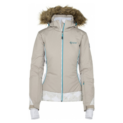 KILPI Dámská lyžařská bunda - větší velikosti VERA-W JLX199KIBEG Béžová