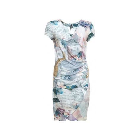 Smash AVELINA (S1883446) Dámské krátké šaty modré se vzorem