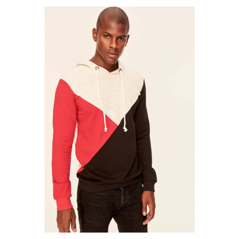 Trendyol Ecru Hooded Sweatshirt-Men's-Panel