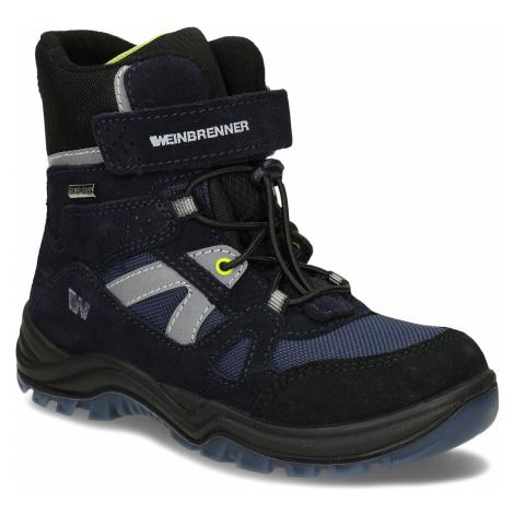 Modro-šedá chlapecká zimní obuv Weinbrenner