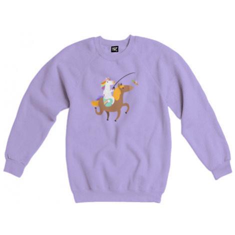Dámská mikina bez kapuce Unicorn ride a horse