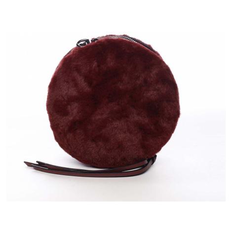Dámská kožešinová kabelka vínová - Maria C Cheer Maria C.