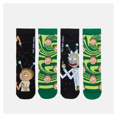 Cropp - Sada 2 párů ponožek Rick and Morty - Černý