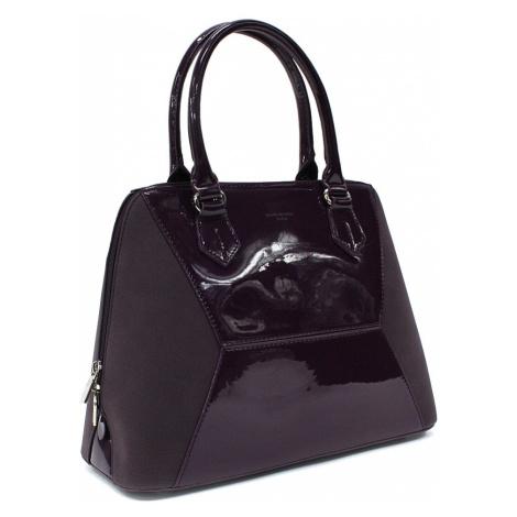 Tmavě fialová pololakovaná dámská kabelka do ruky Diandra David Jones