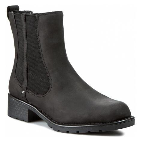 Kotníková obuv s elastickým prvkem CLARKS - Orinoco Club 203409184 Black Leather