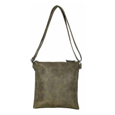 Dámská kabelka z khaki ekologické kůže ONE SIZE FPrice