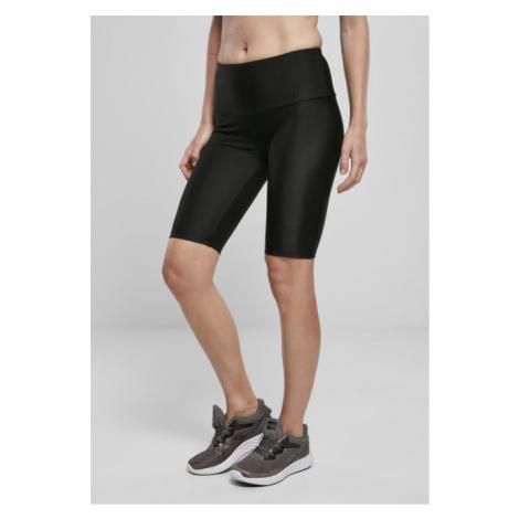 Urban Classics Ladies High Waist Shiny Rib Cycle Shorts black