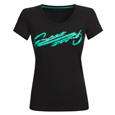 Guess GUESS dámské černé tričko SS RN LATISHA TEE