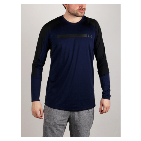 Tričko Under Armour Perpetl Fitted LS Modrá