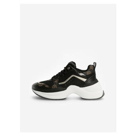 Hnědo-černé dámské boty Guess