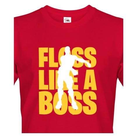Pánské Fortnite tričko Floss like Boss - ideální triko pro hráče BezvaTriko
