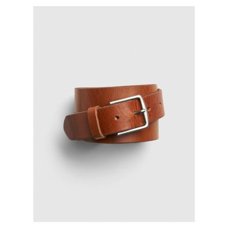Hnědý pánský pásek new classic belt GAP