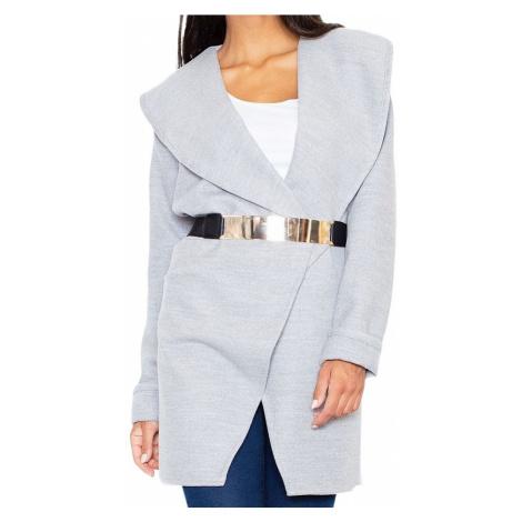 Elegantní kabát se zlatým páskem Figl