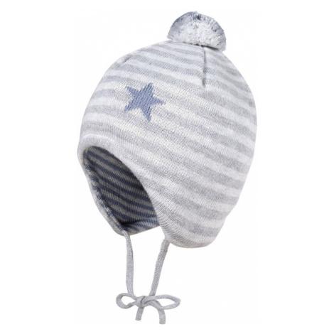 MAXIMO Čepice stříbrně šedá / světle šedá / chladná modrá