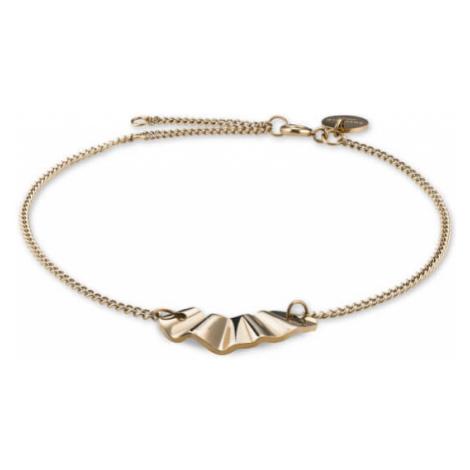 Rosefield náramek Lois Liquid Waved Charm Bracelet Gold