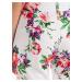 GATE Kalhoty s květinovým potiskem