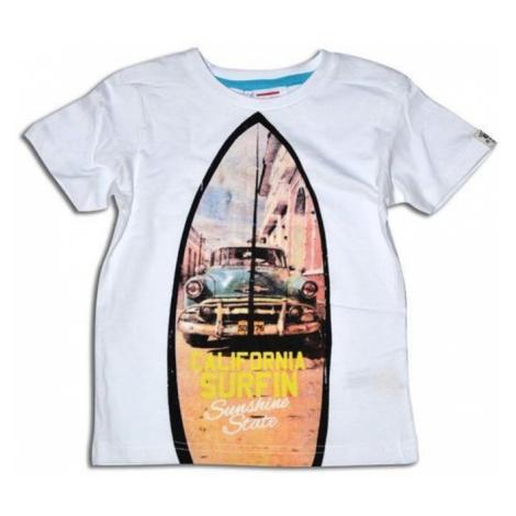 Bílé chlapecké letní tričko s krátkým rukávem Roque Pidilidi