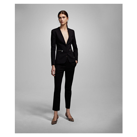 Sako Karl Lagerfeld Punto Jacket W/ Logo Tape - Černá
