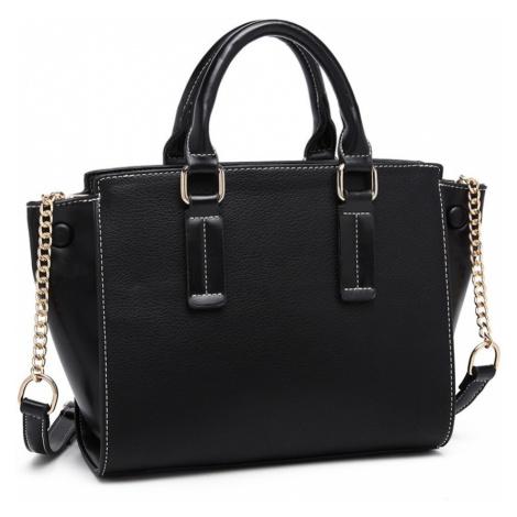 Černá luxusní dámská kabelka Leonda Lulu Bags