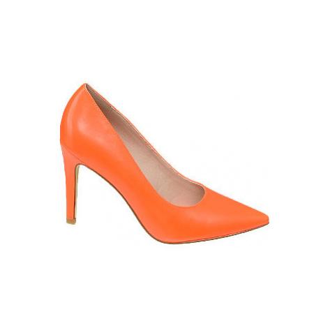 Oranžové lodičky Graceland