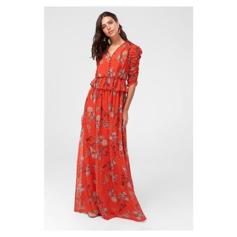 Trendyol Orange Button Detailed Dress