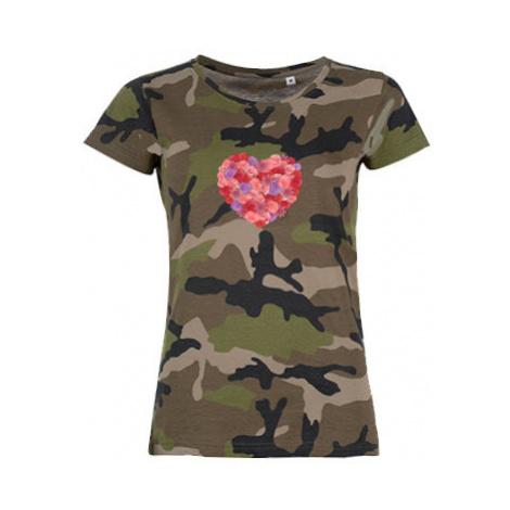 Dámské maskáčové tričko All you need is love