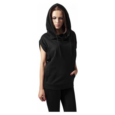 Mikina Urban Classics Ladies Sleeveless Terry High Neck Hoody - black