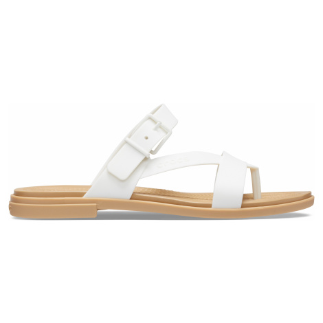 Crocs Crocs Tulum Toe Post Sandal W Oyster/Tan W9