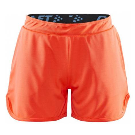Dívčí šortky CRAFT Focus Printed JR oranžová