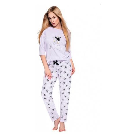 Dámské pyžamo Ellie světle fialové s tučňáky Sensis