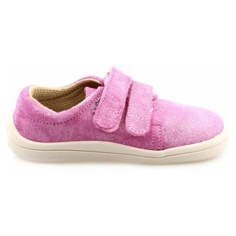 boty Beda nízké Janette růžové s třpytkami (BF 0001/W/nízký)