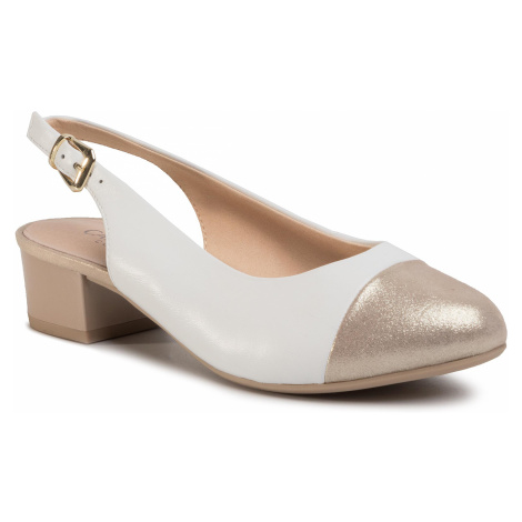 Sandály CAPRICE - 9-29500-24 White/Lt Gold 190