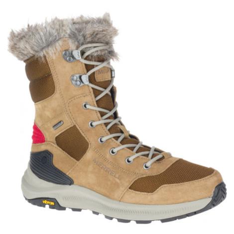 Merrell ONTARIO TALL PLR WP hnědá - Dámské zimní boty