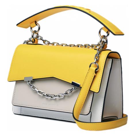 Žluto-bílá kožená kabelka KARL LAGERFELD