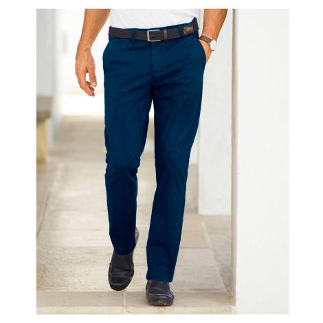 Blancheporte Chino jednobarevné kalhoty námořnická modrá