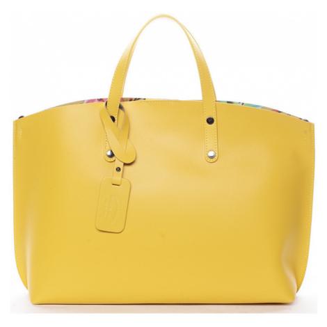 Italy Dámská kožená kabelka žlutá - Jordana Žlutá