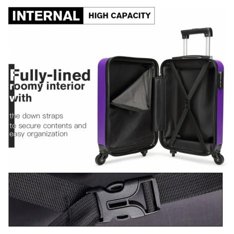 Fialový cestovní kvalitní prostorný malý kufr Bartie Kono