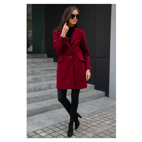 Roco Woman's Coat PLA0012 Crimson