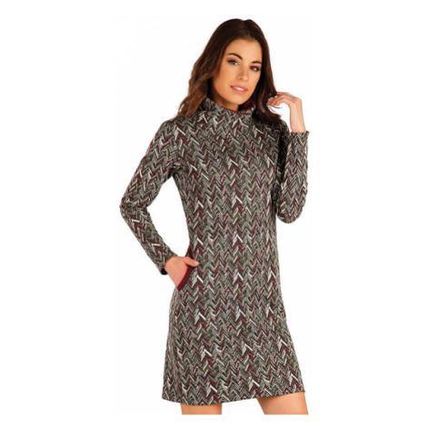 Dámské mikinové šaty Litex 7A048 | tisk